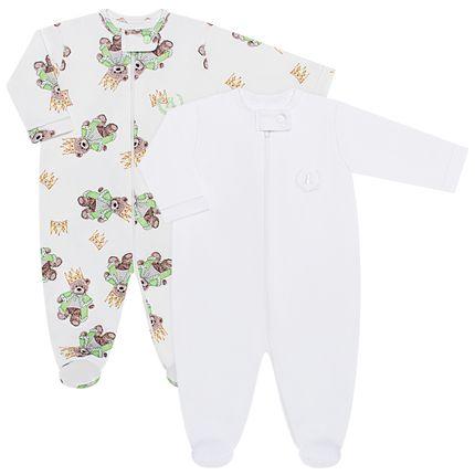 CQ19.093-120_A-moda-bebe-menino-pack-2-macacao-manga-longa-ziper-suedine-king-bear-coquelicot-no-bebefacil-loja-de-roupas-enxoval-e-acessorios-para-bebes