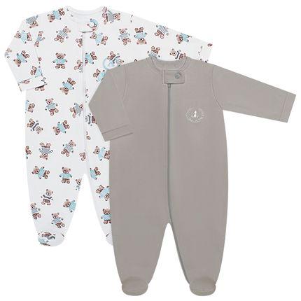 CQ19.093-121_A-moda-bebe-menino-pack-2-macacao-manga-longa-ziper-suedine-cute-bear-coquelicot-no-bebefacil-loja-de-roupas-enxoval-e-acessorios-para-bebes