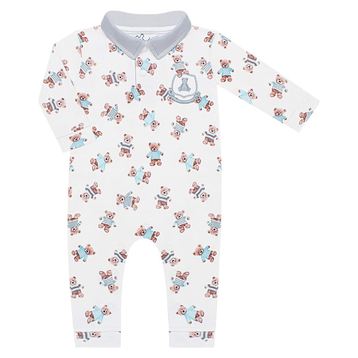 6dbfbeaea6 Macacão Polo para bebê em algodão Ursinhos - Coquelicot no Bebefacil ...