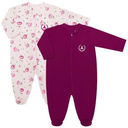 CQ19.093-112_A-moda-bebe-menina-pack-2-macacao-manga-longa-ziper-suedine-florzinhas-coquelicot-no-bebefacil-loja-de-roupas-enxoval-e-acessorios-para-bebes