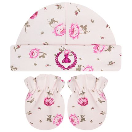 CQ19.039-112_A-moda-bebe-menina-kit-touca-luva-suedine-florzinhas-coquelicot-no-bebefacil-loja-de-roupas-enxoval-e-acessorios-para-bebes