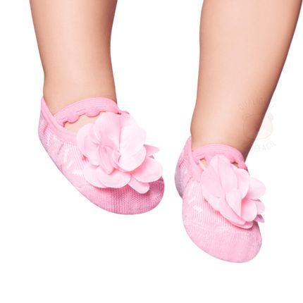 PK6939L-R_A-moda-bebe-menina-meia-sapatilha-flor-rosa-confetti-puket-no-bebefacil-loja-de-roupas-enxoval-e-acessorios-para-bebes