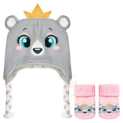 PK6958-UR_A-moda-bebe-menina-kit-touca-meia-ursinha-princess-puket-no-bebefacil-loja-de-roupas-enxoval-e-acessorios-para-bebes