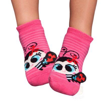 PK7005-PK_A-moda-bebe-menina-meia-soquete-aplique-joaninha-pink-puket-no-bebefacil-loja-de-roupas-enxoval-e-acessorios-para-bebes