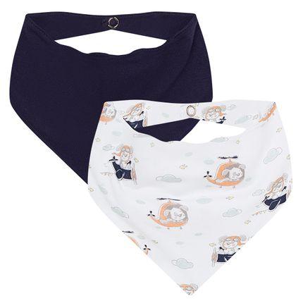 AB19518-201_A-enxoval-e-maternidade-bebe-menino-kit-2-babadores-bandana-em-malha-ursinho-aviador-anjos-baby-no-bebefacil-loja-de-roupas-enxoval-e-acessorios-para-bebes