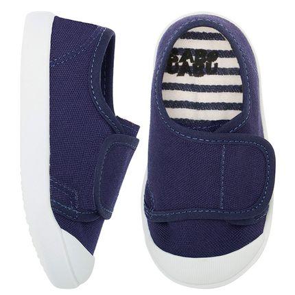 BABO56_A1-sapatinho-bebe-menino-menina-tenis-velcro-marinho-babo-uabu-no-bebefacil-loja-de-roupas-enxoval-e-acessorios-para-bebes