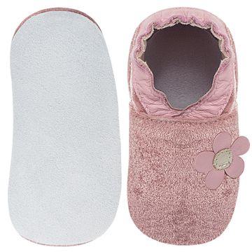 BABO69_B-sapatinho-bebe-menina-sapato-flor-do-campo-veludo-rosa-babo-uabu-no-bebefacil-loja-de-roupas-enxoval-e-acessorios-para-bebes