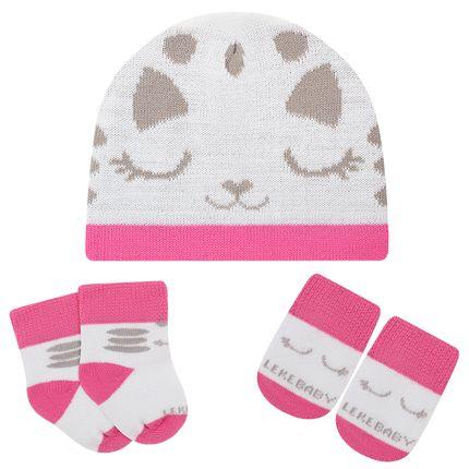 LK402.001_A-moda-bebe-menina-acessorios-kit-touca-luva-sapatinho-ursinha-leke-meias-no-bebefacil-loja-de-roupas-enxoval-e-acessorios-para-bebes