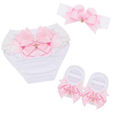 LK089.002_A-moda-bebe-menina-kit-calcinha-tiara-meia-sapatilha-laco-rosa-leke-no-bebefacil-loja-de-roupas-enxoval-e-acessorios-para-bebes