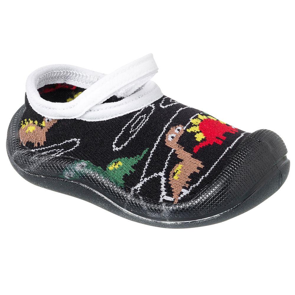 KB22030-73-A-Meia-c-Sola-para-bebe-Dinossauros---Keto-Baby