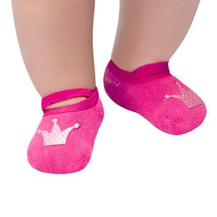 LK014.002_A-moda-bebe-menina-meia-sapatilha-princess-pink-leke-no-bebefacil-loja-de-roupas-enxoval-e-acessorios-para-bebes