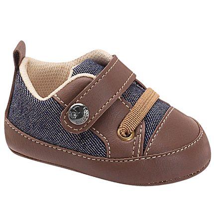 UNI585-177-sapatinho-bebe-menino-sapatenis-denim-cafe-unipasso-no-bebefacil-loja-de-roupas-enxoval-e-acessorios-para-bebes
