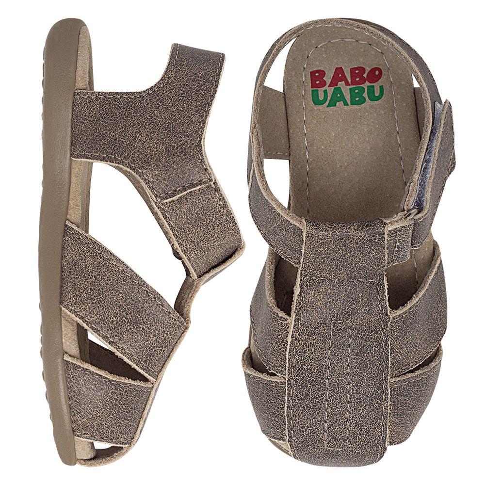 BABO81_A-sapatinho-sandalia-explorador-stone-khaki-babo-uabu-no-bebefacil-loja-de-roupas-enxoval-e-acessorios-para-bebes