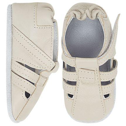 BABO79_A-sapatinho-bebe-menino-sandalia-tiras-couro-eco-marfim-babo-uabu-no-bebefacil-loja-de-roupas-enxoval-e-acessorios-para-bebes