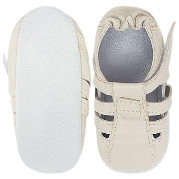 BABO79_B-sapatinho-bebe-menino-sandalia-tiras-couro-eco-marfim-babo-uabu-no-bebefacil-loja-de-roupas-enxoval-e-acessorios-para-bebes