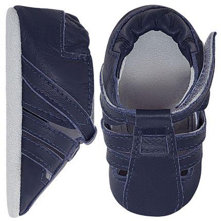 BABO80_A-sapatinho-bebe-menino-sandalia-tiras-couro-eco-marinho-babo-uabu-no-bebefacil-loja-de-roupas-enxoval-e-acessorios-para-bebes
