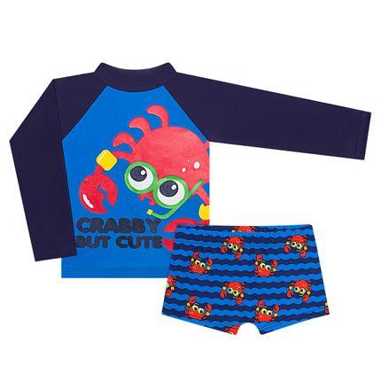 KIT1.CRABBY_A-moda-praia-bebe-menino-kit-camiseta-surfista-sunga-boxer-lycra-crab-puket-no-bebefacil-loja-de-roupas-enxoval-e-acessorios-para-bebes