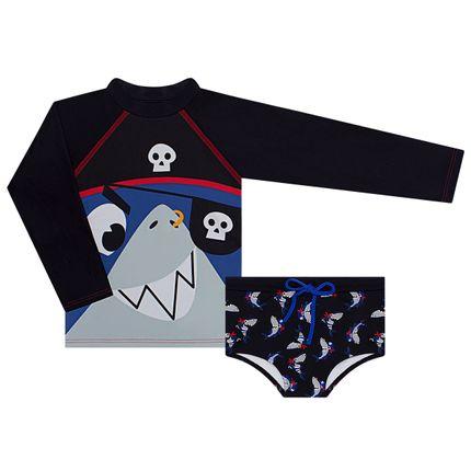 KIT1.TUBARAO_A-moda-kids-menino-kit-banho-camiseta-surfista-sunga-lycra-tubarao-pirata-puket-no-bebefacil-loja-de-roupas-enxoval-e-acessorios-para-bebes