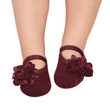 PK6939L-VI_A-moda-acessorios-bebe-menina-meia-sapatilha-flor-marsala-puket-no-bebefacil-loja-de-roupas-enxoval-e-acessorios-para-bebes