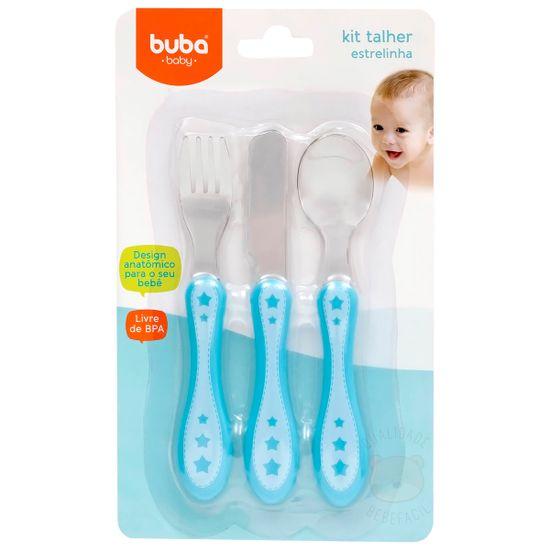 BUBA10676-A-Kit-Talheres-em-inox-Estrelinha-Azul--6m-----Buba