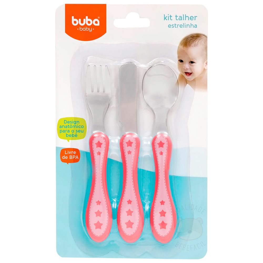 BUBA10677-A-Kit-Talheres-em-inox-Estrelinha-Rosa--6m-----Buba
