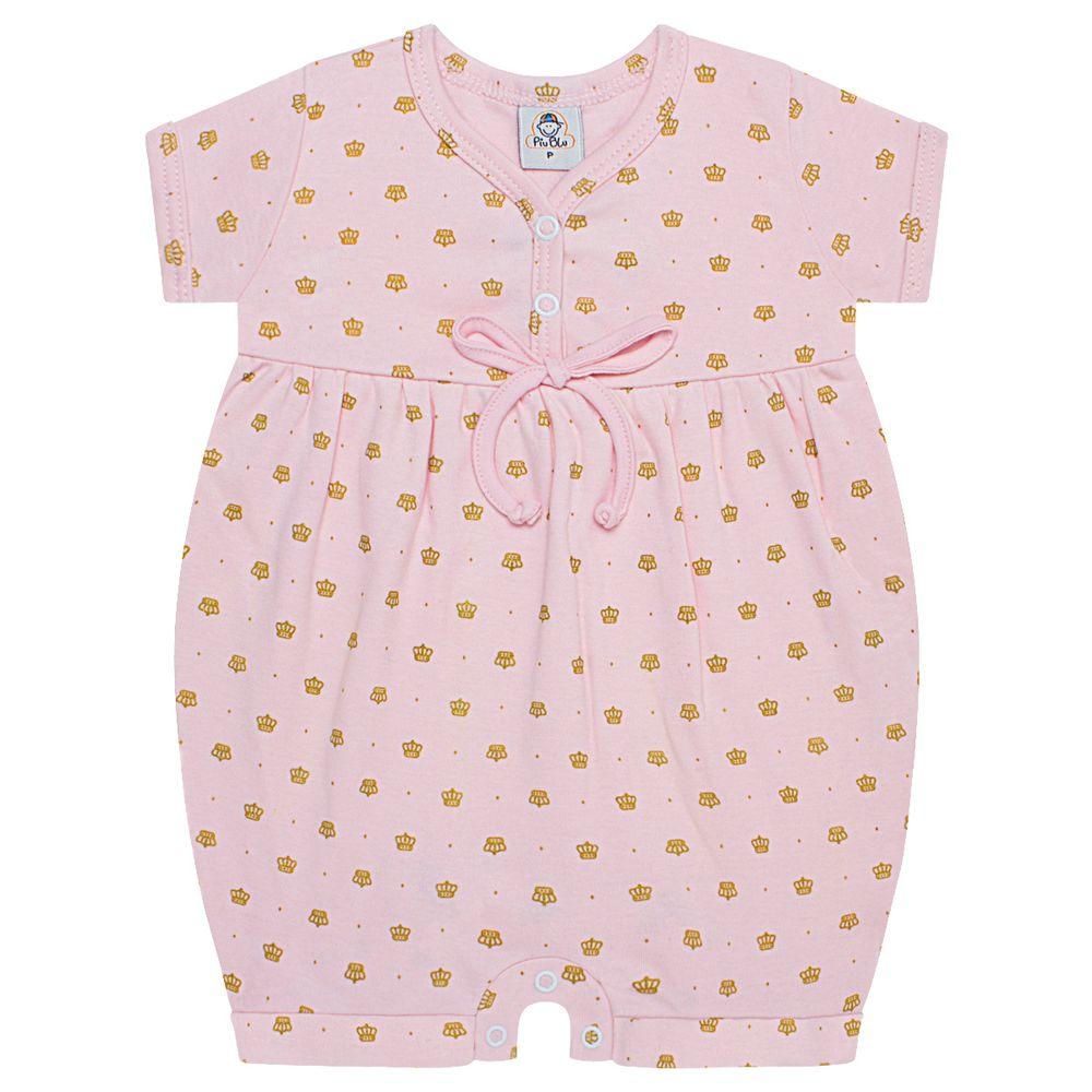 PB3151_A-moda-bebe-menina-macacao-curto-suedine-coroinhas-rosa-piu-blu-no-bebefacil-loja-de-roupas-enxoval-e-acessorios-para-bebes