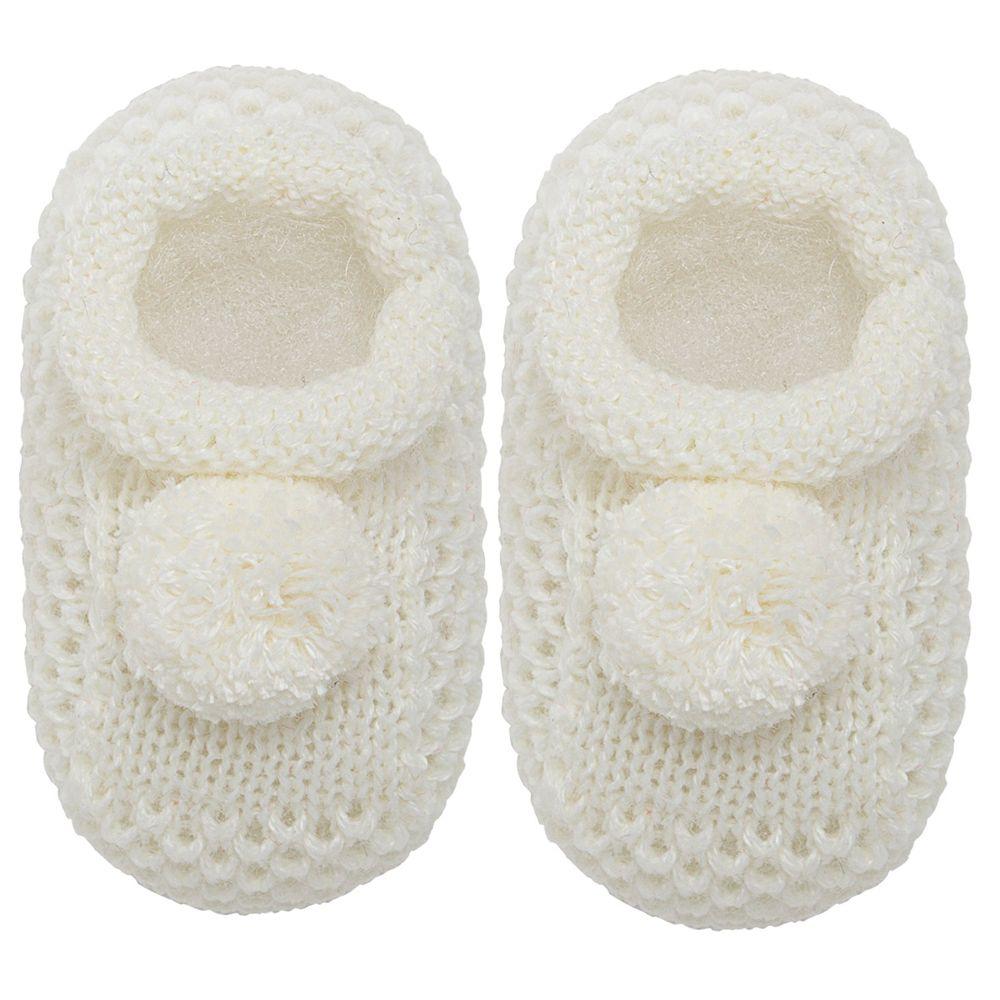 01018003031_A-sapatinho-bebe-menino-menina-sapatinho-tricot-pom-pom-marfim-roana-no-bebefacil-loja-de-roupas-enxoval-e-acessorios-para-bebes