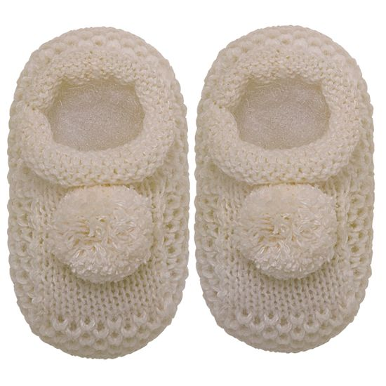 01018003007_A-sapatinho-bebe-menino-menina-sapatinho-tricot-pom-pom-bege-roana-no-bebefacil-loja-de-roupas-enxoval-e-acessorios-para-bebes