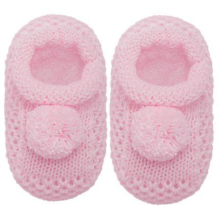 01018003046_A-sapatinho-bebe-menina-sapatinho-tricot-pom-pom-rosa-roana-no-bebefacil-loja-de-roupas-enxoval-e-acessorios-para-bebes