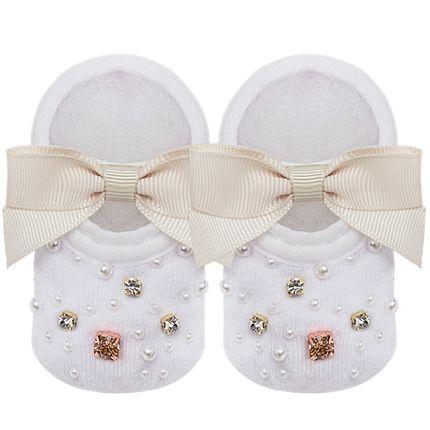 09118001031_A-moda-bebe-menina-meia-sapatilha-laco-strass-e-perolas-marfim-roana-no-bebefacil-loja-de-roupas-enxoval-e-acessorios-para-bebes