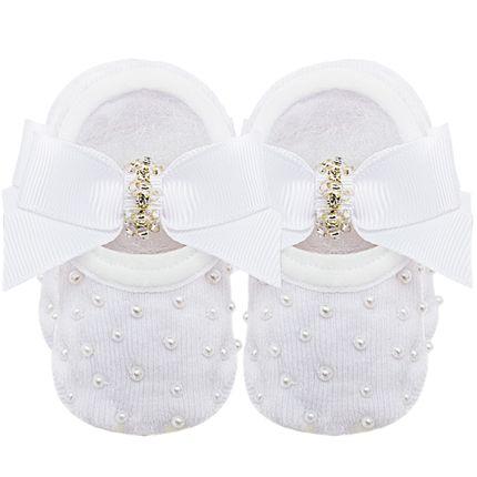 09118013001_A-moda-bebe-menina-meia-sapatilha-laco-strass-e-perolas-branca-roana-no-bebefacil-loja-de-roupas-enxoval-e-acessorios-para-bebes