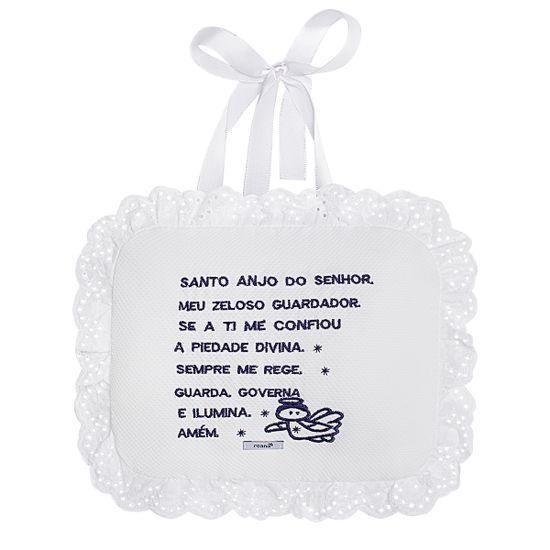 00130001008_A-enxoval-ematernidade-bebe-menino-almofada-santo-anjo-piquet-marinho-roana-no-bebefacil-loja-de-roupas-enxoval-e-acessorios-para-bebes