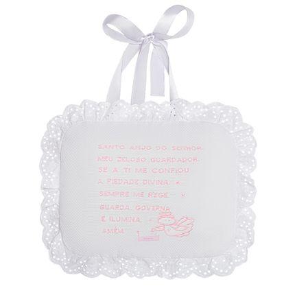 AL000004046_A-enxoval-e-maternidade-bebe-menina-almofada-santo-anjo-piquet-rosa-roana-no-bebefacil-loja-de-roupas-enxoval-e-acessorios-para-bebes
