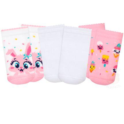 PK6963-CO--010101549100-A-moda-bebe-menina-tripack-meia-soquete-coelhinha-puket-no-bebefacil-loja-de-roupas-enxoval-e-acessorios-para-bebes