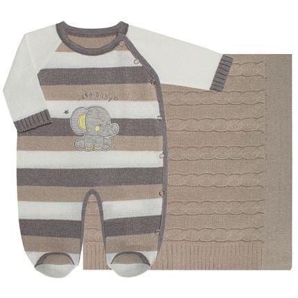 LBY5041-B_A-moda-bebe-menino-saida-maternidade-macacao-longo-manta-tricot-elefantinho-caqui-petit-by-lababy-no-bebefacil-loja-de-roupas-enxoval-e-acessorios-para-bebes
