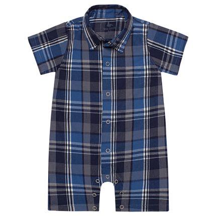LBY4899-X_A-moda-bebe-menino-macacao-polo-tricoline-xadrez-mini-sailor-by-la-baby-no-bebefacil-loja-de-roupas-enxoval-e-acessorios-para-bebes