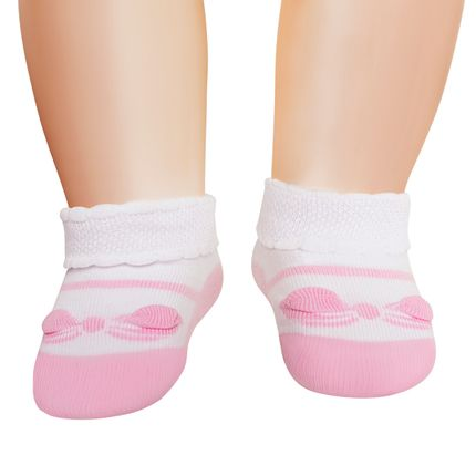 LU02000-242.1150_-A-moda-bebe-menina-meia-sapatilha-laco-branca-rosa-lupo-no-bebefacil-loja-de-roupas-enxoval-e-acessorios-para-bebes