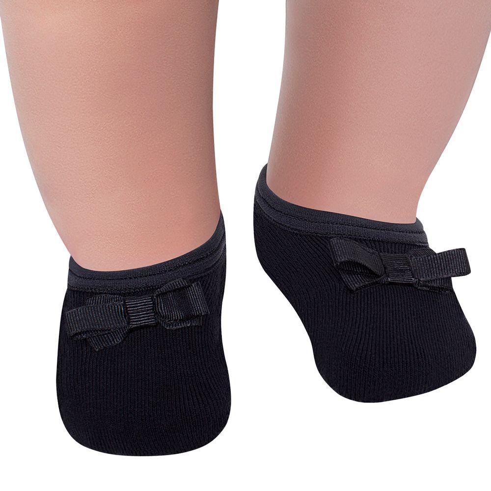 LU02006-018.9990_A-moda-bebe-menina-meia-sapatilha-laco-gorgurao-preta-lupo-no-bebefacil-loja-de-roupas-enxoval-e-acessorios-para-bebes