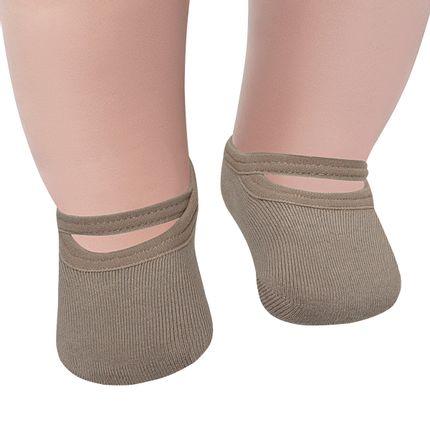LU02027-003.6550_A-moda-bebe-menina-menino-meia-sapatilha-caqui-lupo-no-bebefacil-loja-de-roupas-enxoval-e-acessorios-para-bebes