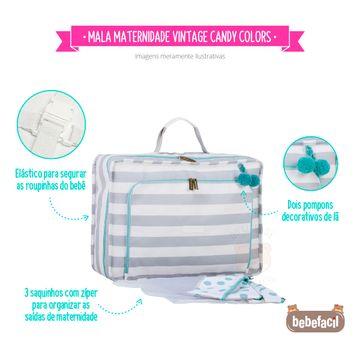 MB12CAN402.09-C-Mala-Maternidade-Vintage-Candy-Colors-Menta---Masterbag