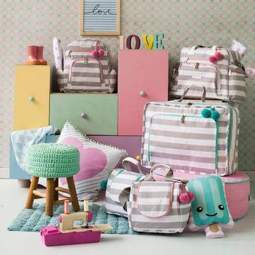MB12CAN402.09-F-Mala-Maternidade-Vintage-Candy-Colors-Menta---Masterbag