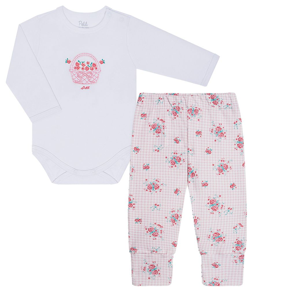 LBY17924845-RN_A-moda-bebe-menina-conjunto-body-longo-calca-em-suedine-roses-petit-by-la-baby-no-bebefacil-loja-de-roupas-enxoval-e-acessorios-para-bebes