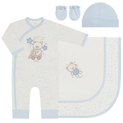 LBY47554862-RN_A-moda-bebe-menino-saida-de-maternidade-macacao-longo-manta-touca-luva-em-suedine-ursinho-estrela-petit-by-la-baby-no-bebefacil-loja-de-roupas-enxoval-e-acessorios-para-bebes