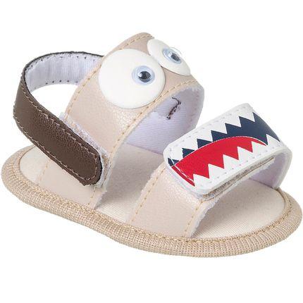 KB5278-12-A-Sandalia-divertida-para-bebe-Baby-Shark-Bege---Keto-Baby