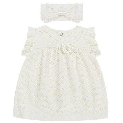 BBG400.003-P_A-moda-bebe-menina-vestido-com-faixa-em-malha-trabalhada-off-white-baby-gut-no-bebefacil-loja-de-roupas-enxoval-e-acessorios-para-bebes