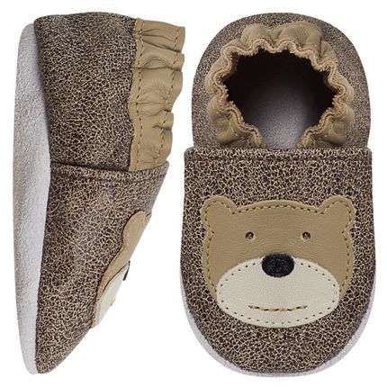 BABO84_A-moda-bebe-menino-sapatinho-ursinho-eco-stone-khaki-babo-uabu-no-bebefacil-loja-de-roupas-enxoval-e-acessorios-para-bebes