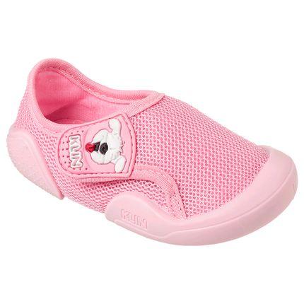 KN179.033000-42-A-Tenis-c-velcro-para-bebe-New-Comfort-Rosa---Klin