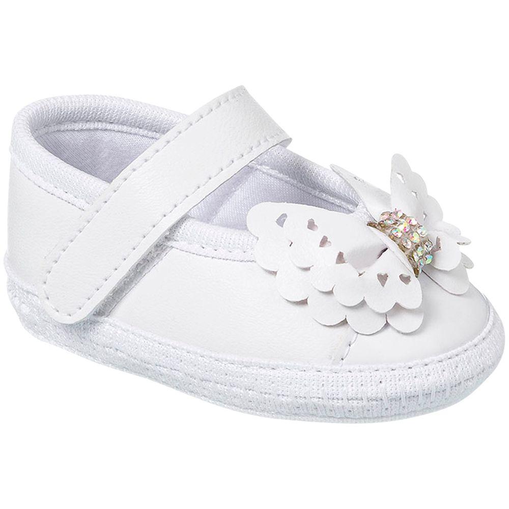 KB1147-8-A-Sapatilha-para-bebe-Laco-Branco---Keto-Baby