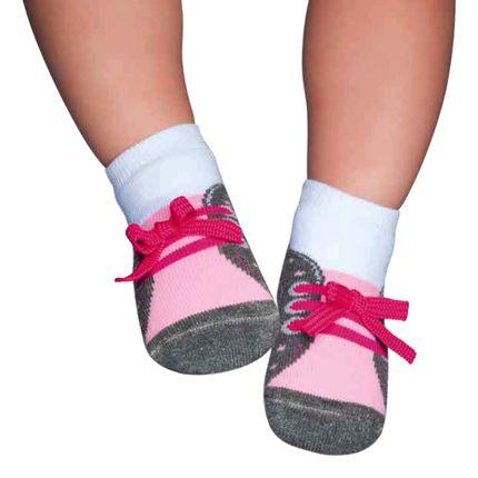 PK7036-B_A-moda-bebe-menina-meia-tenis-mescla-rosa-puket-no-bebefacil-loja-de-roupas-enxoval-e-acessorios-para-bebes