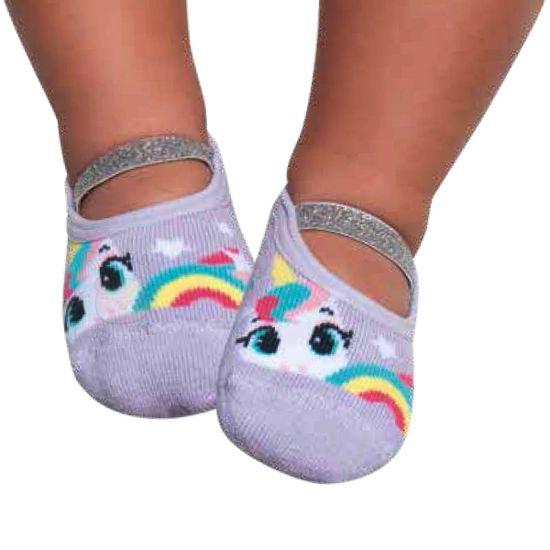 PK7039-LL_A-moda-bebe-menina-meia-sapatilha-lurex-unicornio-lilas-puket-no-bebefacil-loja-de-roupas-enxoval-e-acessorios-para-bebes